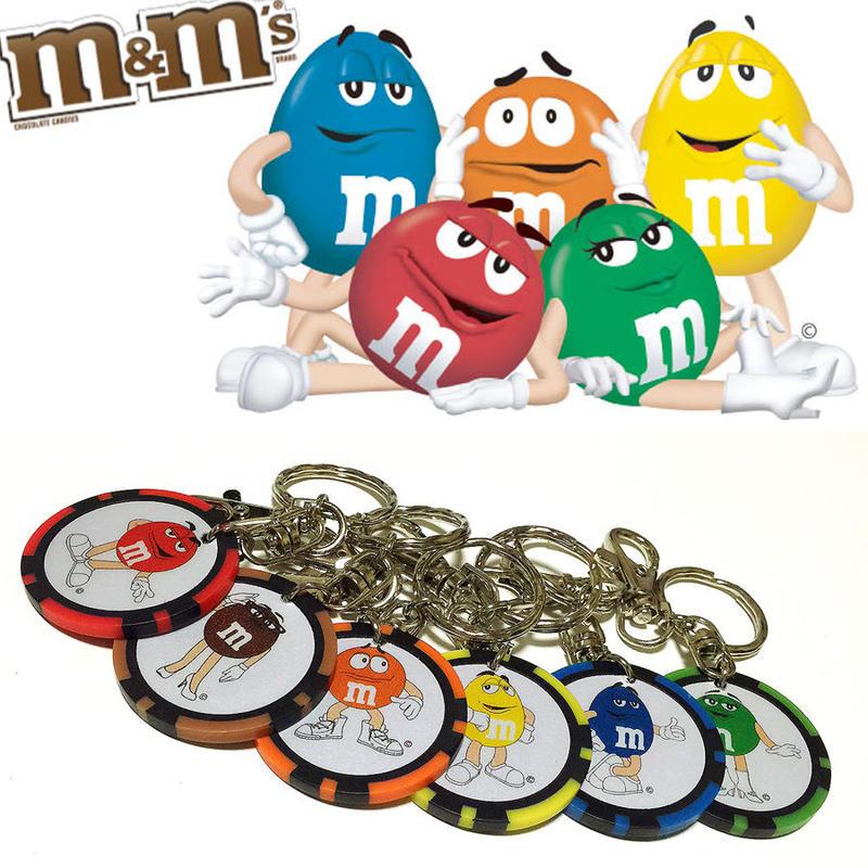 【m&m's】実物!!ラスベガスカジノチップ キーホルダー