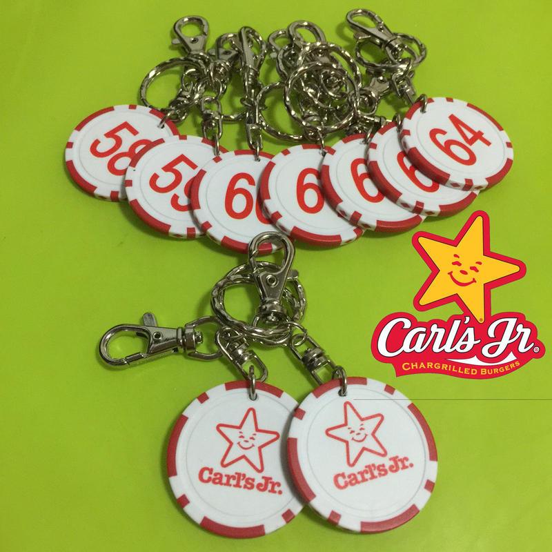 再入荷!!!【Carl's Jr.】カジノチップキーボルダー No.57~No.64