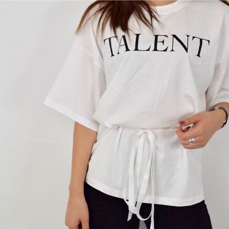 バックスリットオーバーTシャツ