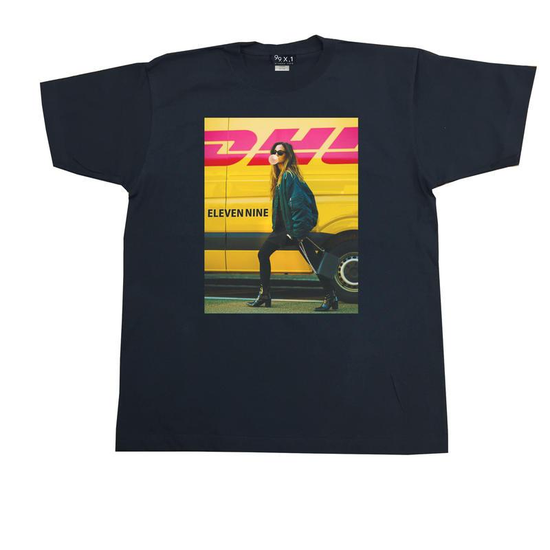Eleven Nine / Tシャツ/  girl  yellow  /ブラック