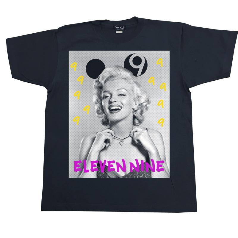 Eleven Nine / Tシャツ/ Marilyn Monroe 9 /ブラック