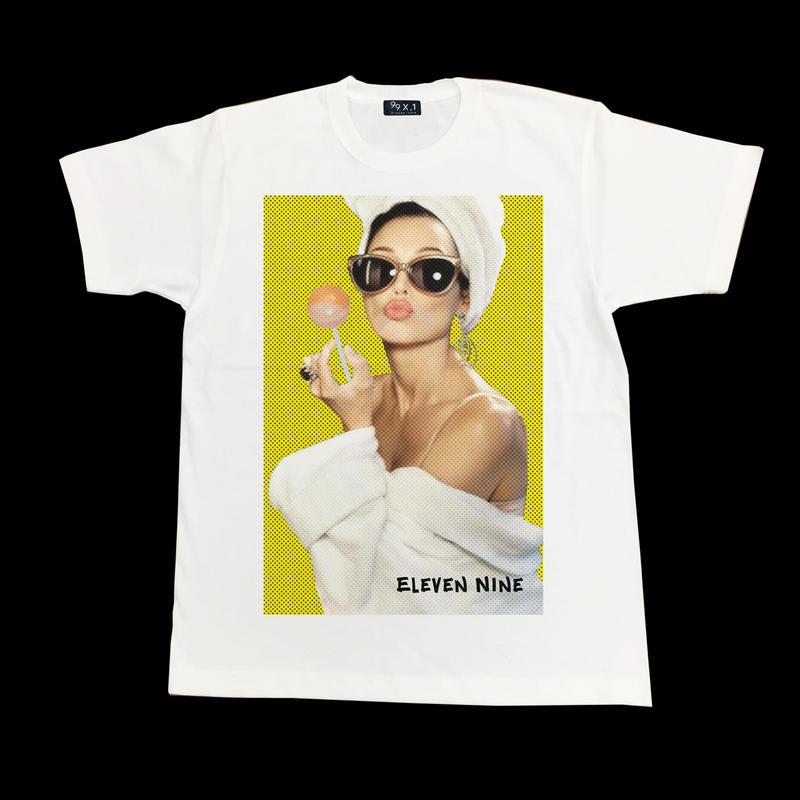 Eleven Nine / Tシャツ/ Chups  girl /ホワイト