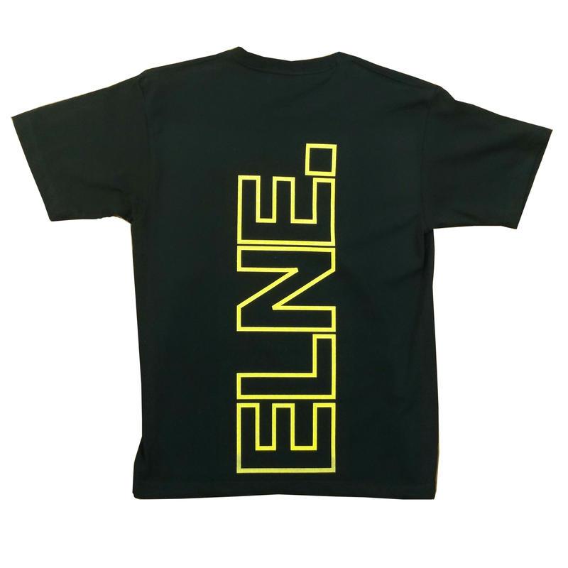 Eleven Nine / Tシャツ/yellow Rogo  outline /ブラック