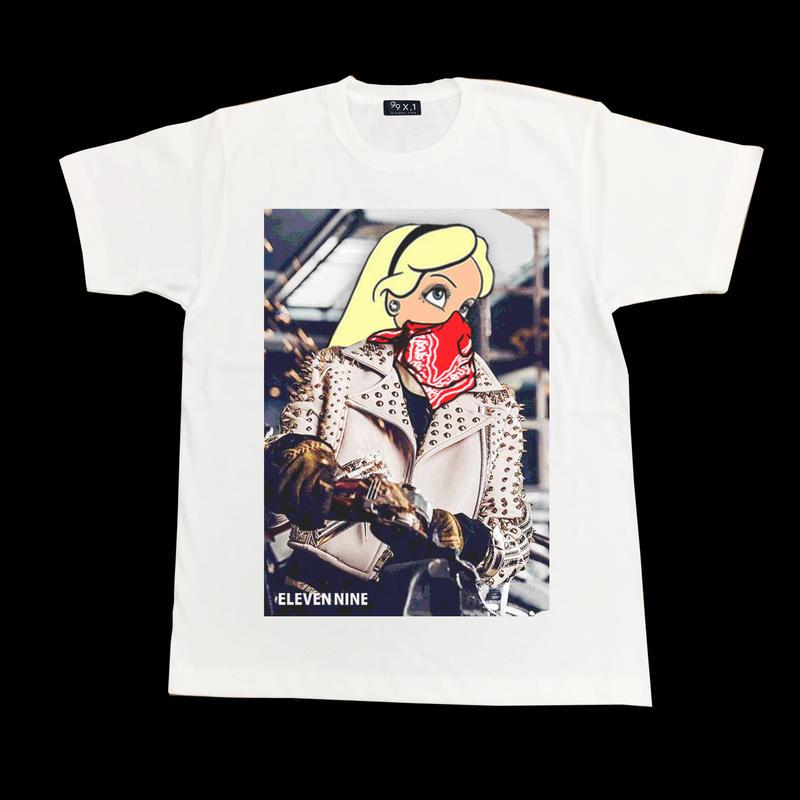 Eleven Nine / Tシャツ/ Riders  bandana  ホワイト
