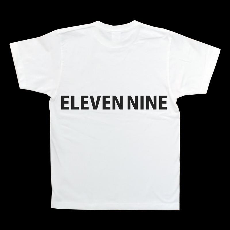 Eleven Nine / Tシャツ/ long   Rogo  back /ホワイト