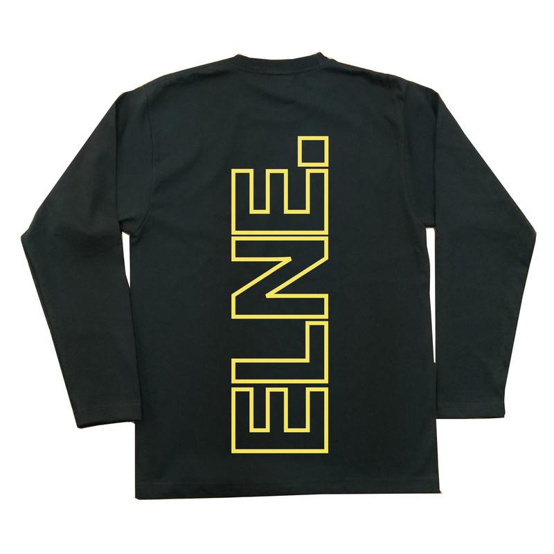 Eleven Nine / 長袖Tシャツ/ yellow Rogo outline /ブラック