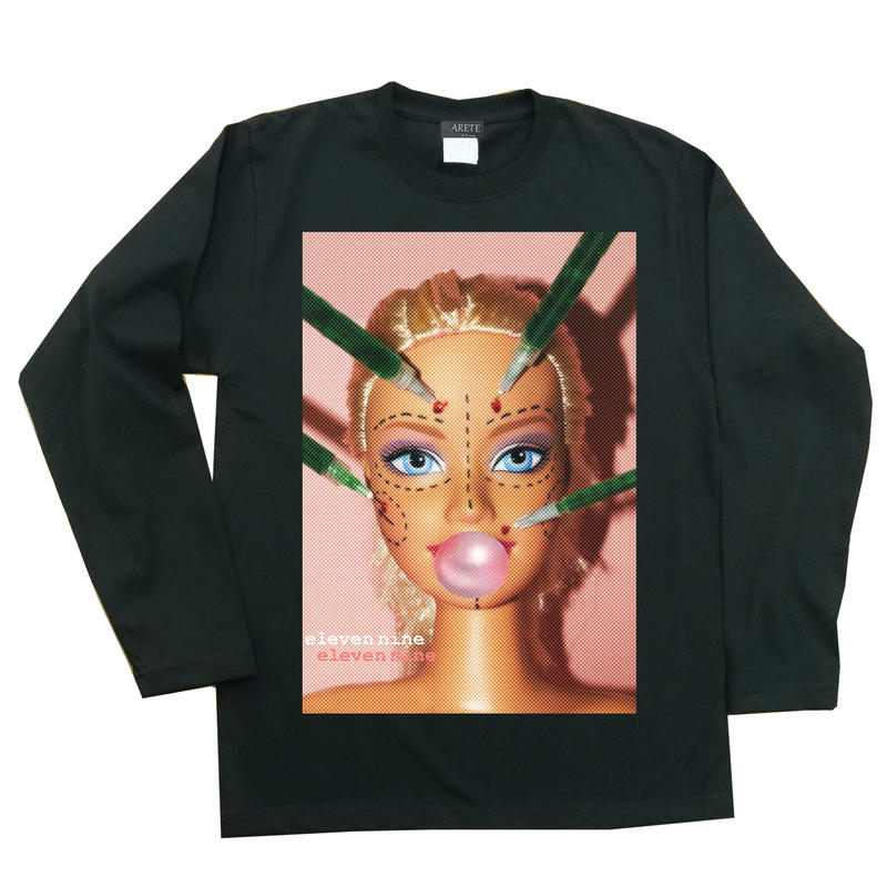 Eleven Nine / 長袖Tシャツ/  beauty doll /ブラック