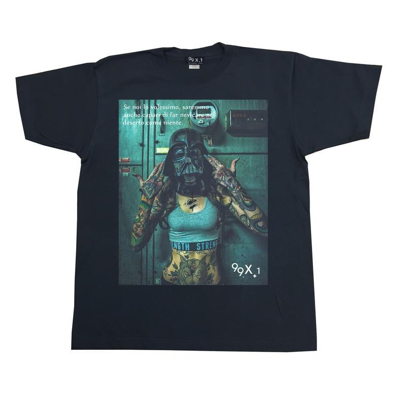 Eleven Nine / Tシャツ/ mask/ブラック