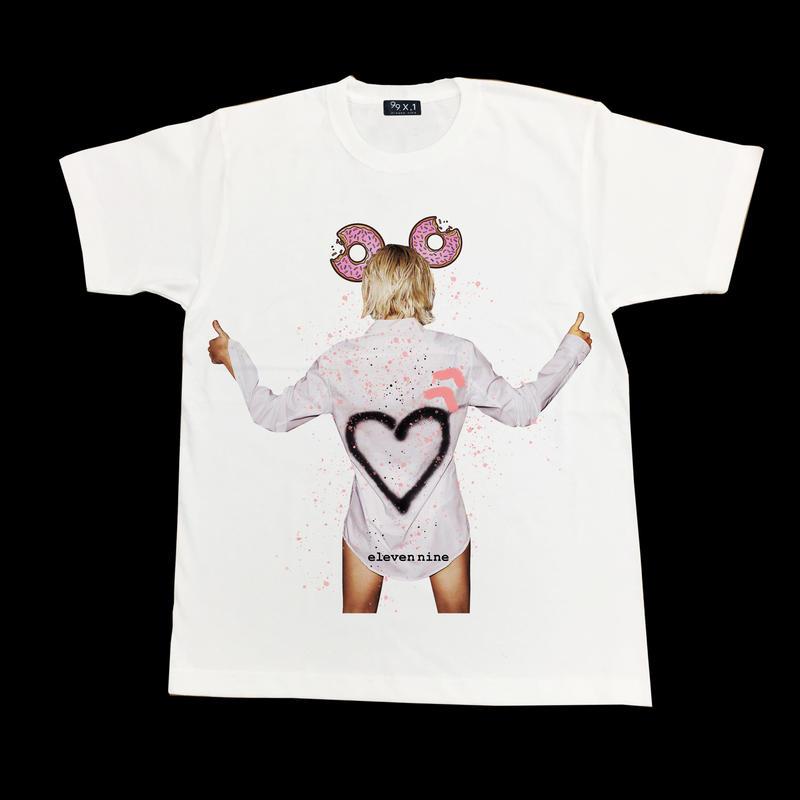 Eleven Nine / Tシャツ/donut girl  ホワイト