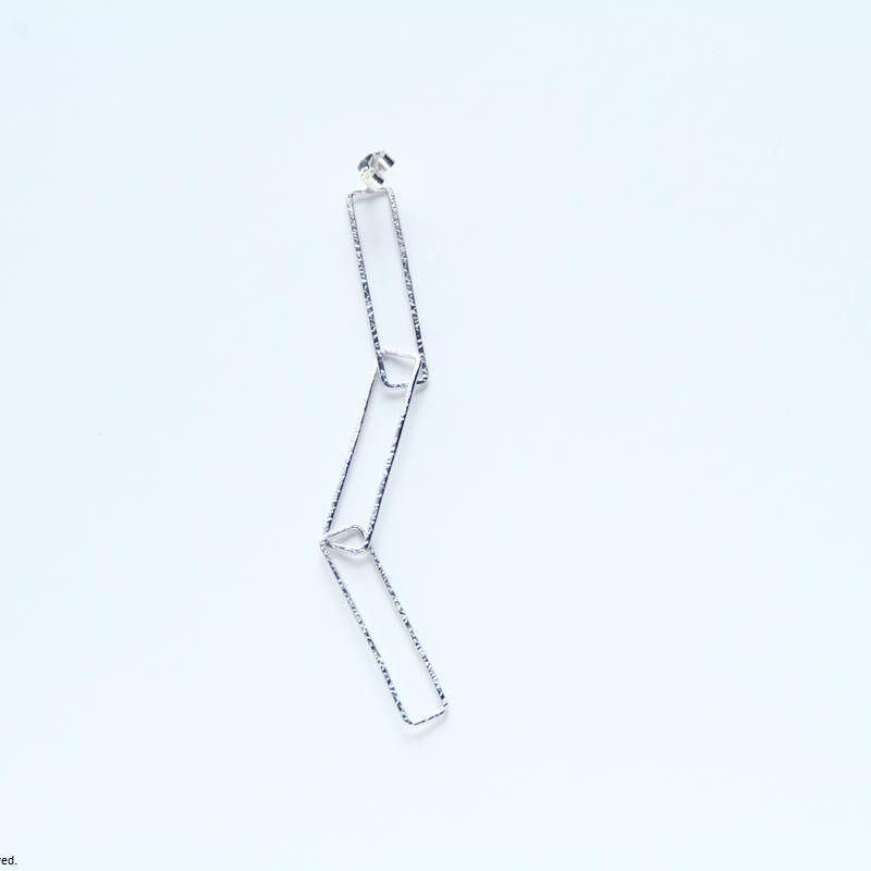 Rectangle earring, a3 / SV