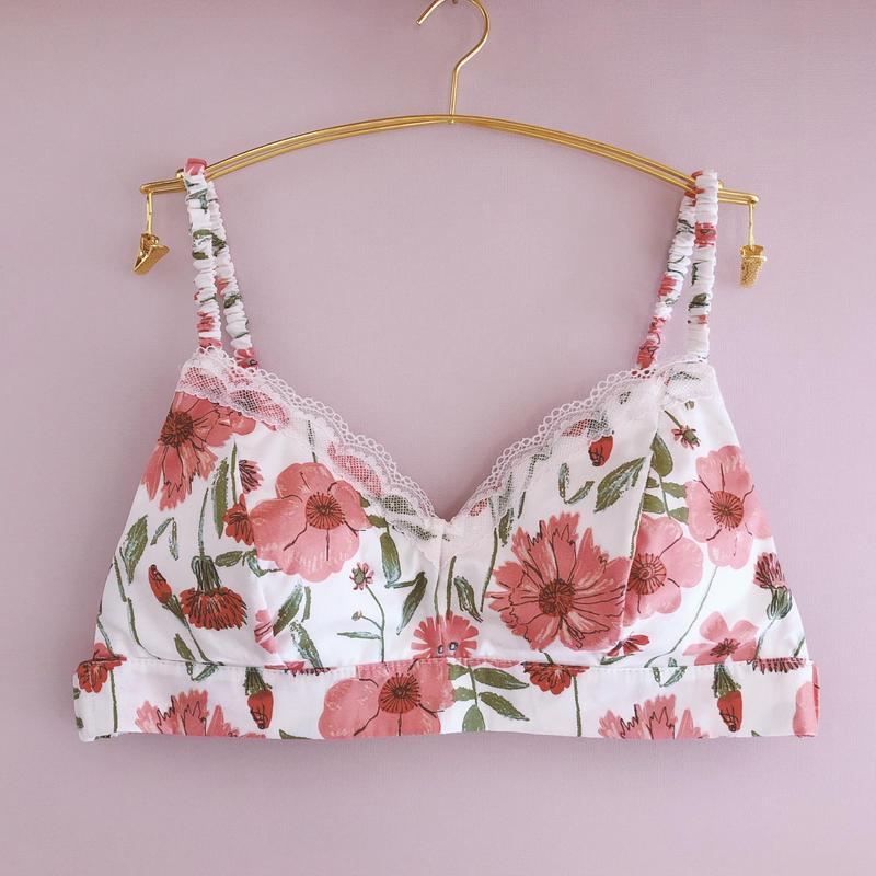Perennial renewal pink cotton bra