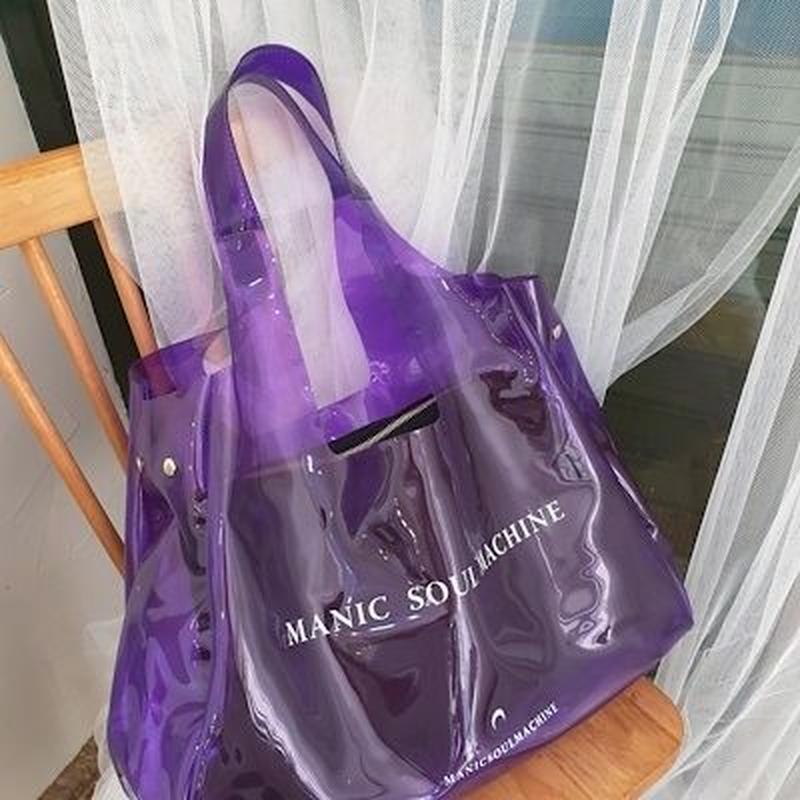 マニック PVC ビーチバッグ(ポーチ付き)