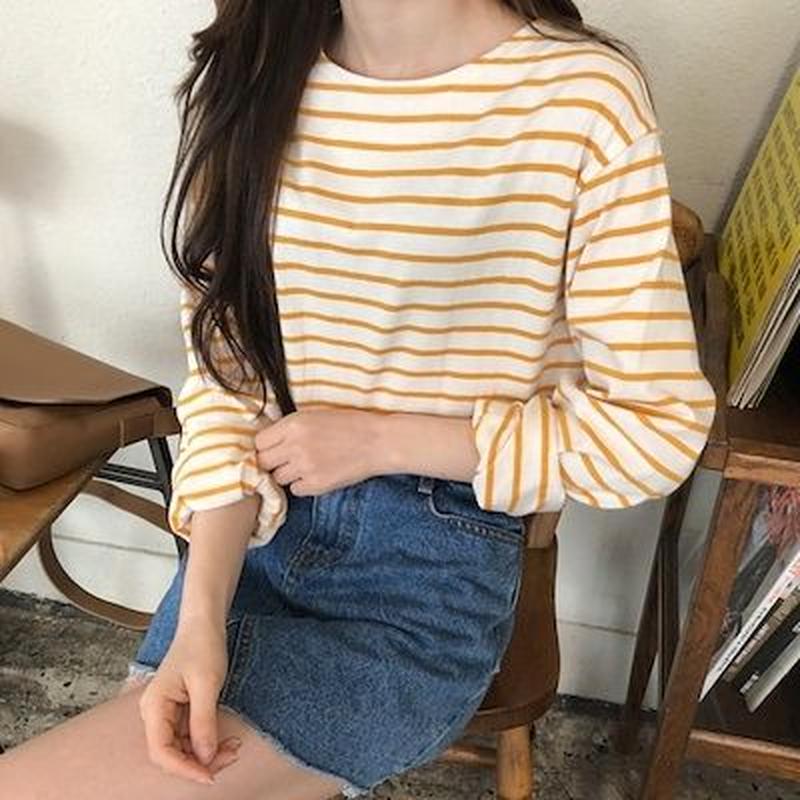 カラーゼリーボーダーTシャツ