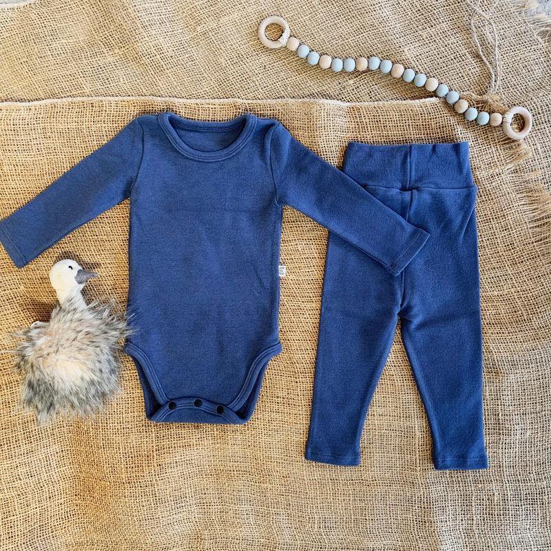 smoky blue  -standard - rompers&leggings set-