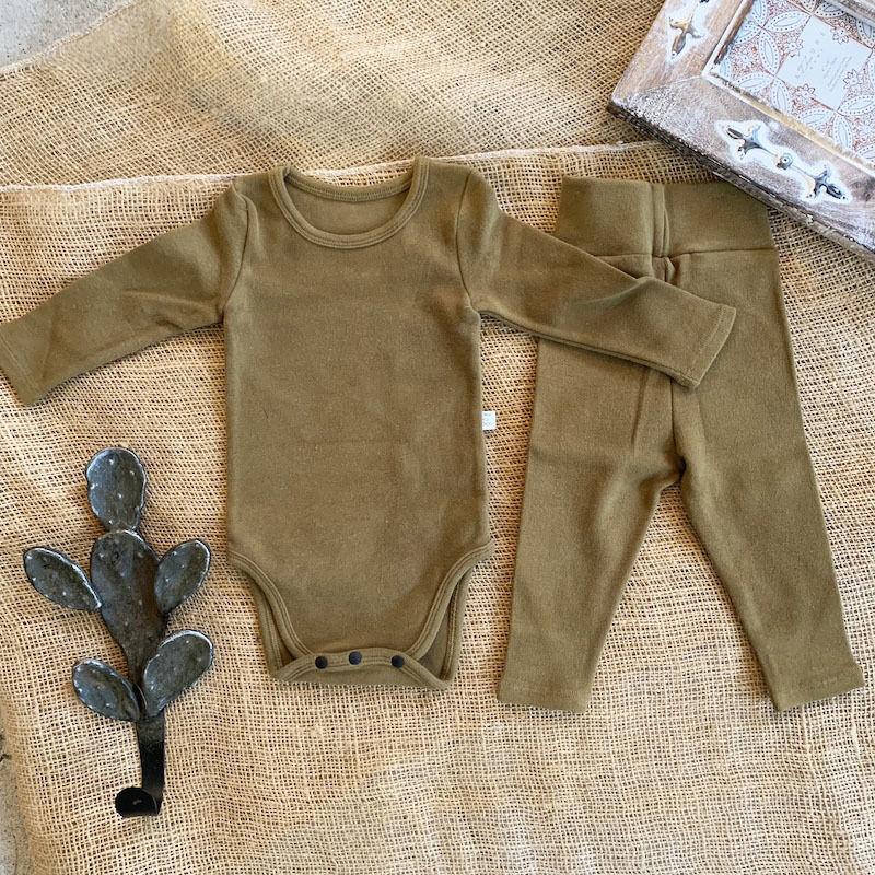ocher -standard - rompers&leggings set-