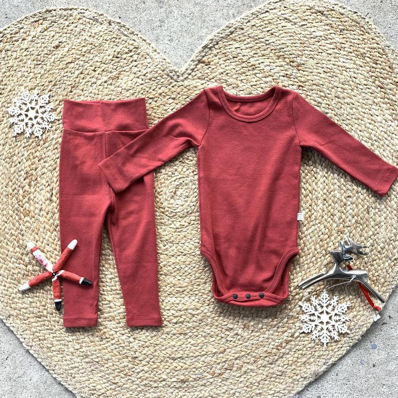 red -standard - rompers&leggings set-
