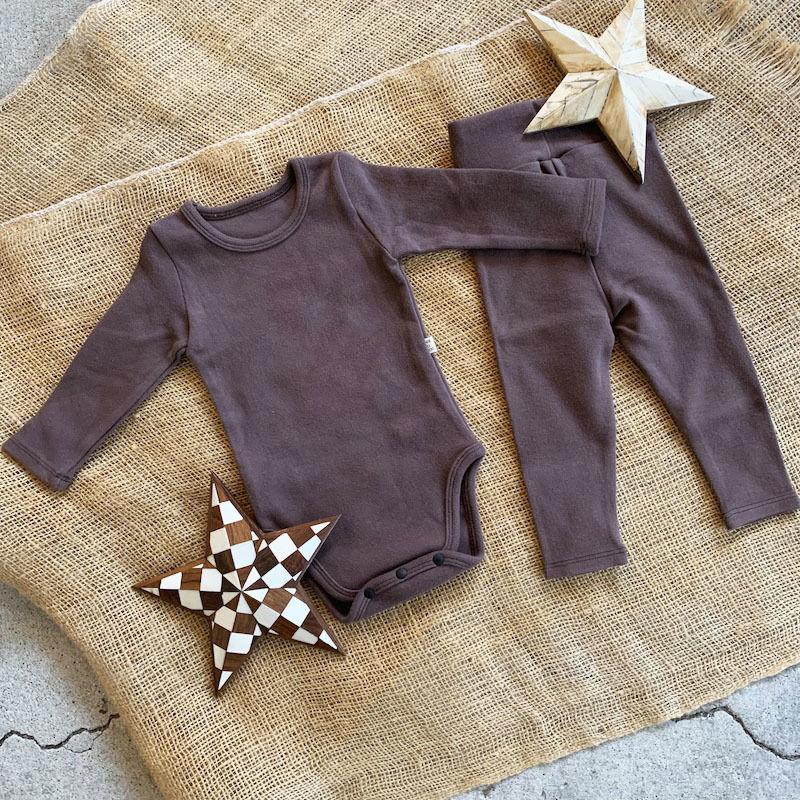 dark brown -standard - rompers&leggings set-