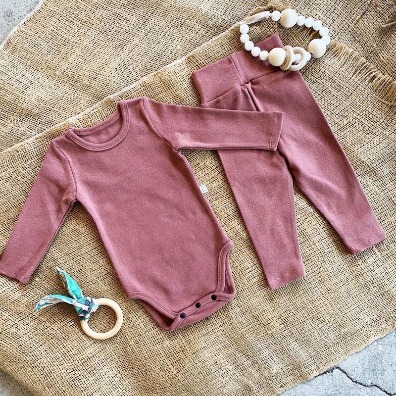 smoky pink -standard - rompers&leggings set-