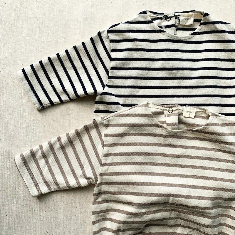 horizontal stripe rompers