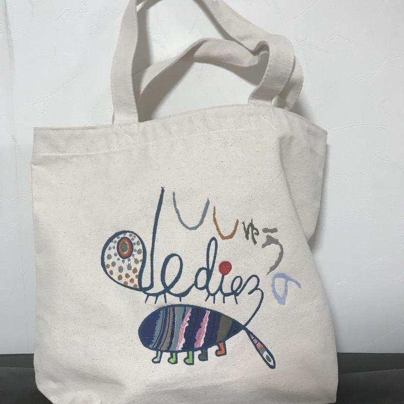 お絵かき刺繡トートバッグ(ナチュラル)