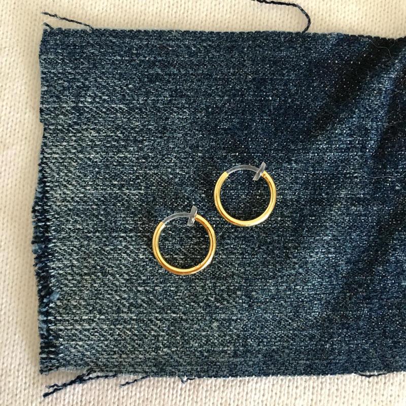 フープイヤリング  12mm 合金&シリコン