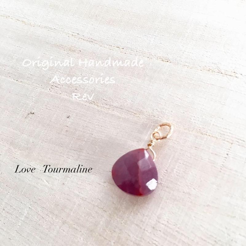 【Love Tourmaline シリーズ】ピンクトルマリンのチャーム K14GF