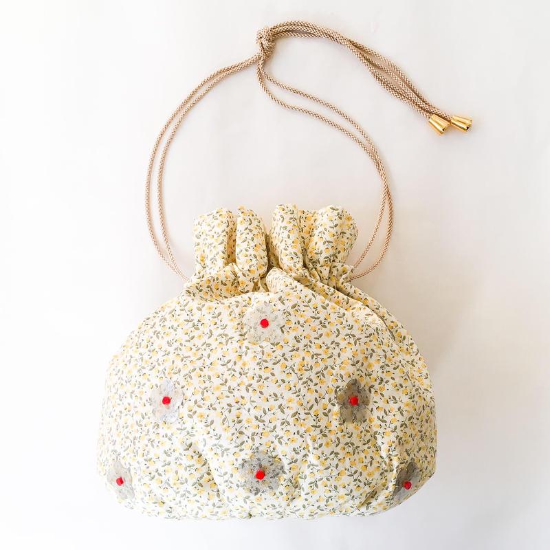 ひらめきの花 きんちゃくバッグ