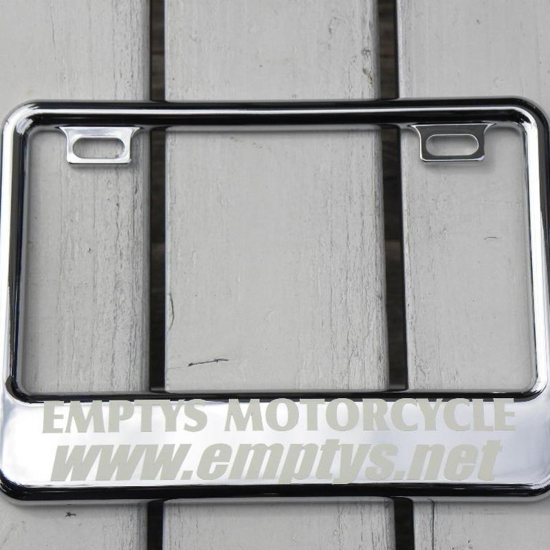EMPTY'S オリジナル ライセンスフレーム for スモールモーターサイクル クローム デザイン1