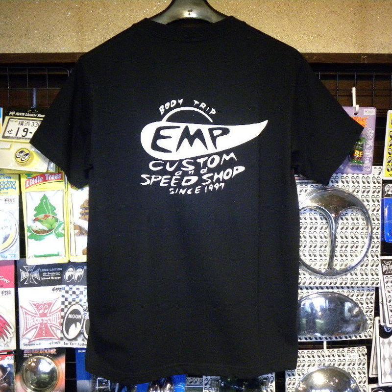 エンプティーズ オリジナルTシャツ Lサイズ スペイシーカー ブラック×ホワイト