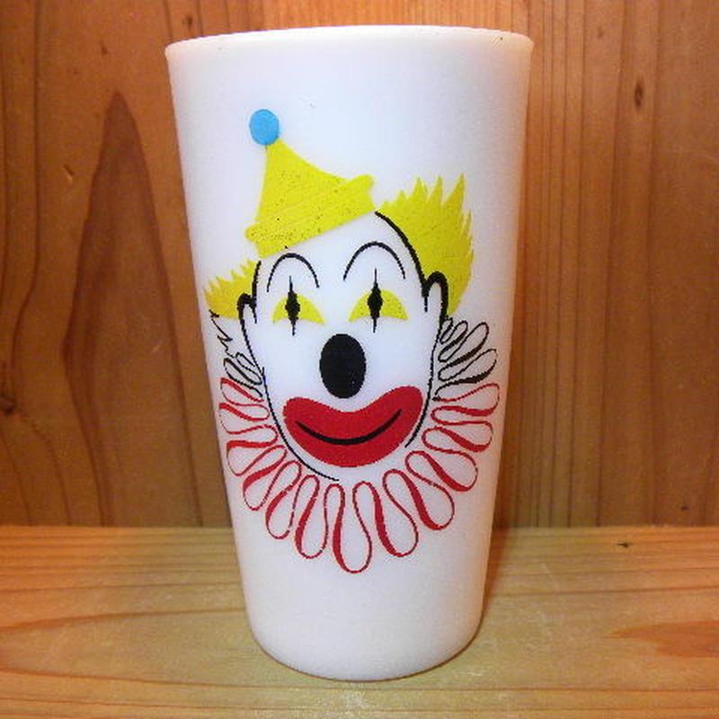 ミルクガラス Hazel Atlas Clown Tumbler