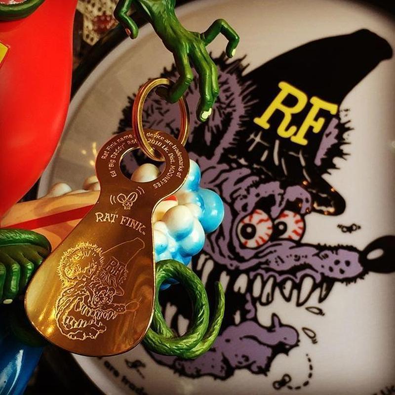 Rat Fink ブラス シューホーン キー リング RKF042