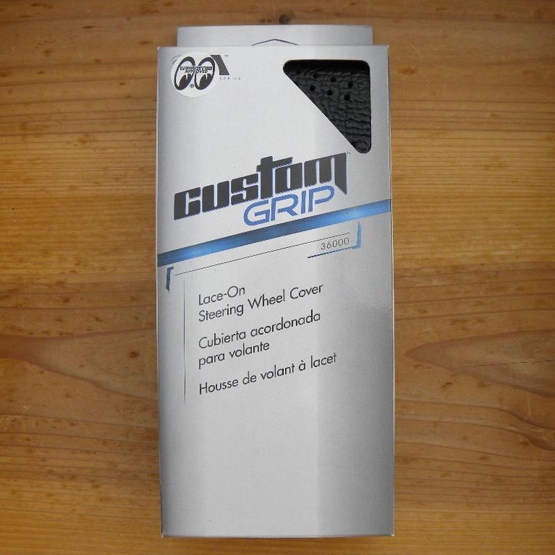 スポーツ グリップ ステアリング ホイール カバー ブラック CAI360BK