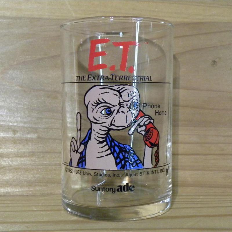 E.T. Suntory ade ノベルティーグラス Phone Home