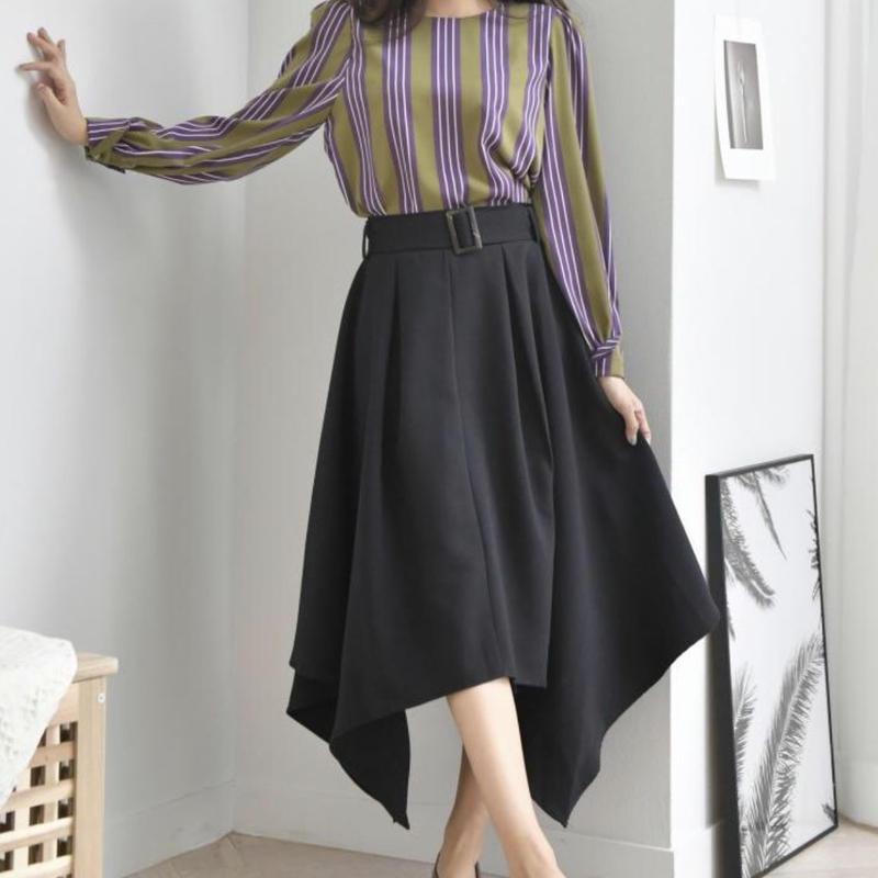 SK579 デザインロングスカート