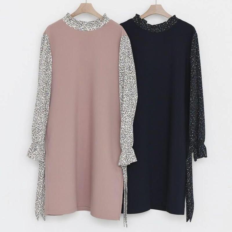 OP2722 袖切替ワンピース