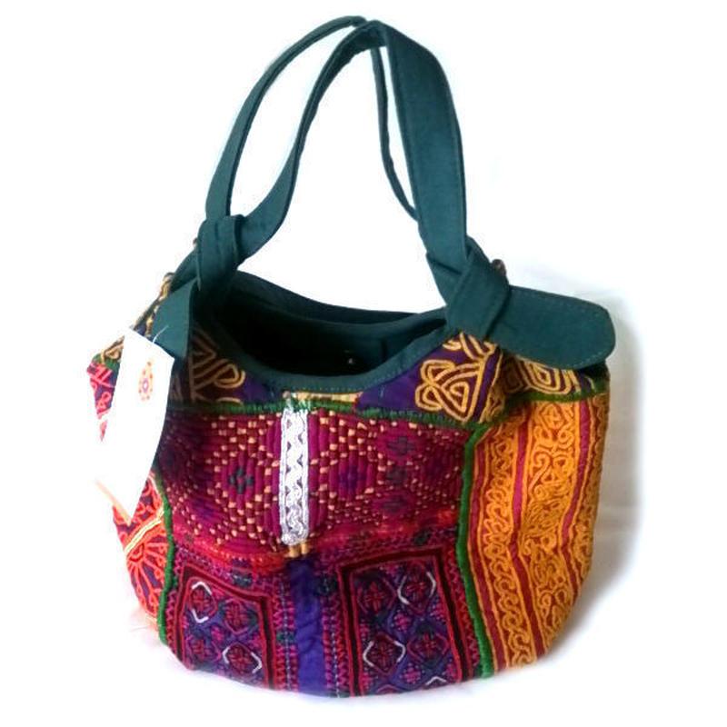 刺繍パッチワークバッグ