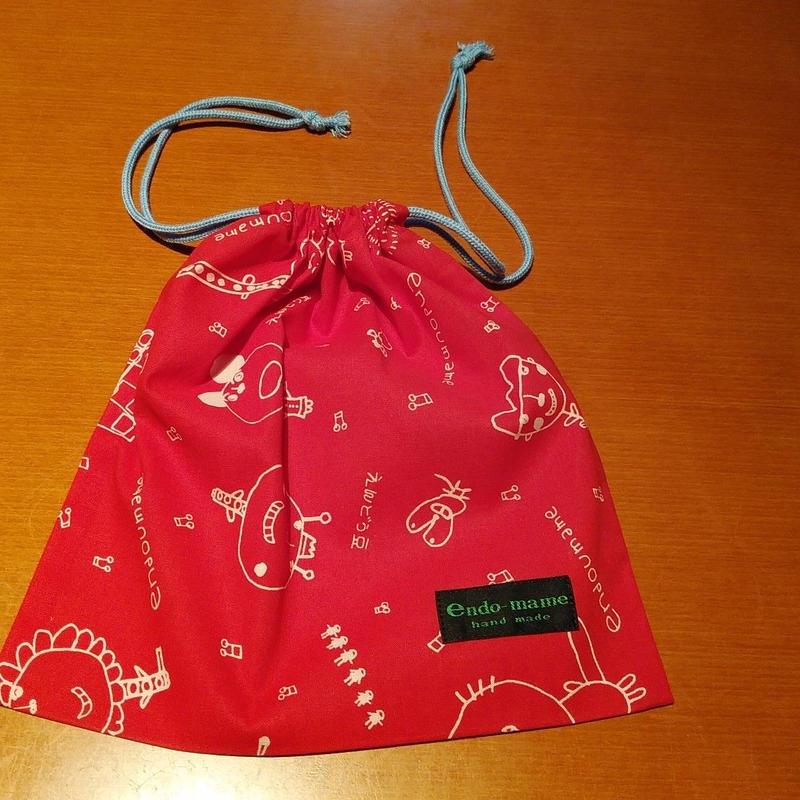 くるみちゃん巾着袋(赤色)