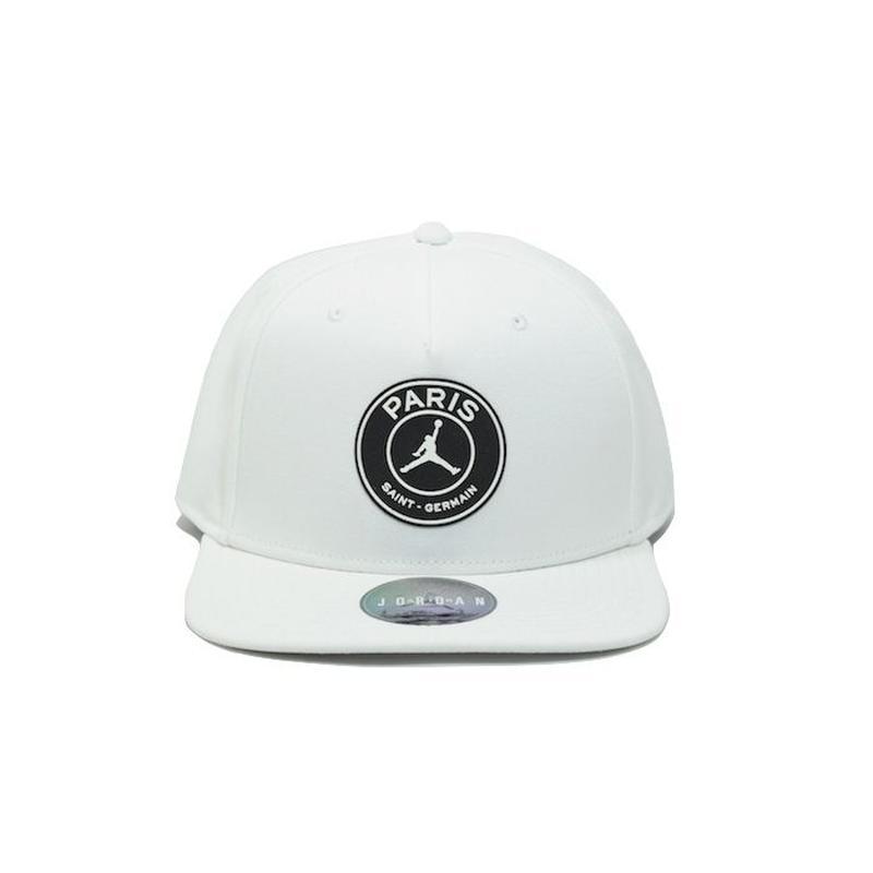 NIKE AIR JORDAN × PSG PRO CAP WHITE BLACK ナイキ エアジョーダン キャップ パリサンジェルマン ホワイト