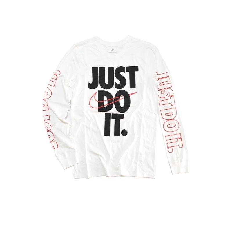 NIKE JUST DO IT LONG SLEEVE TEE WHITE ナイキ Tシャツ ロンT ホワイト