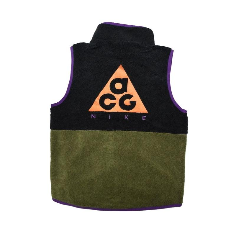NIKE ACG VEST NIGHT PURPLE BLACK  ナイキ フリース ベスト