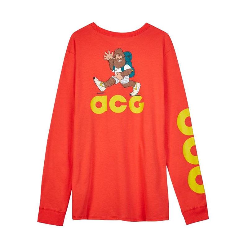 NIKE ACG L/S TEE HABANERO RED ナイキ Tシャツ ハバネロレッド