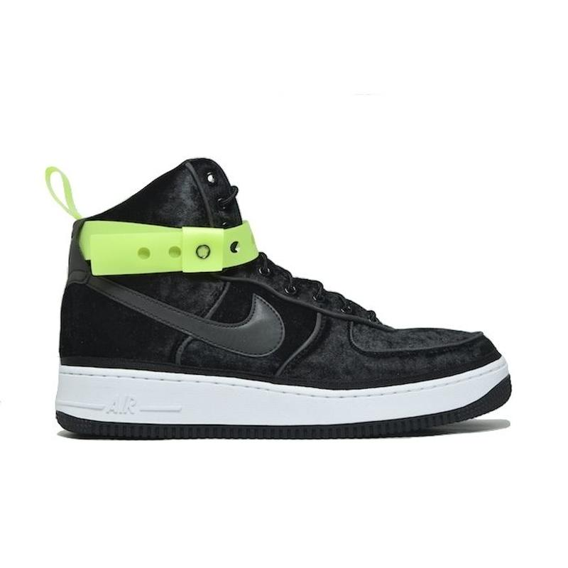 NIKE AIR FORCE 1 HIGH 07 QS VELOUR BLACK VOLT ナイキ エアフォース