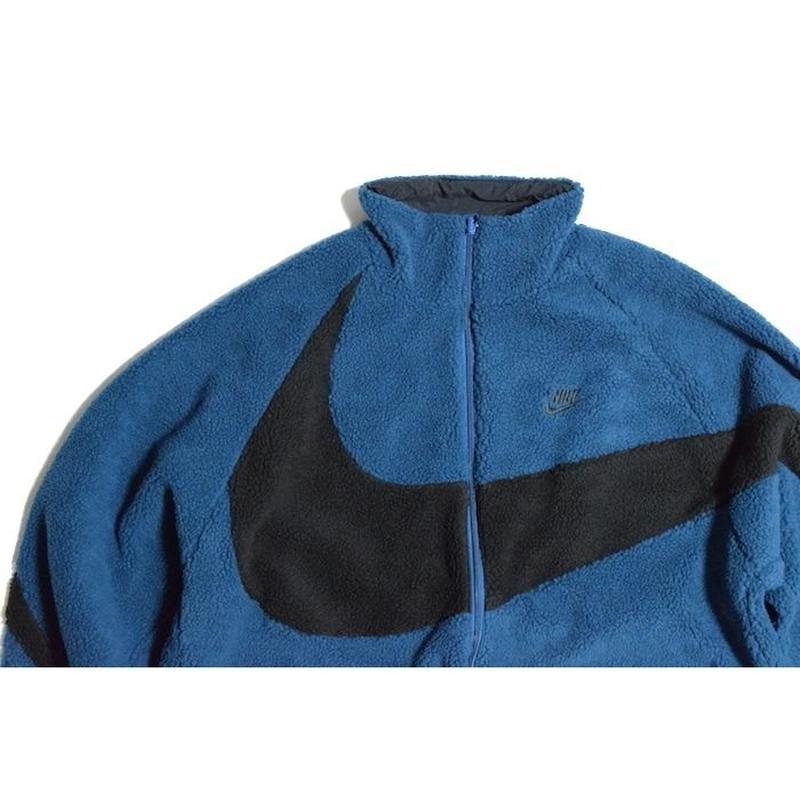 NIKE REVERSIBLE BIG SWOOSH FULL ZIP JACKET BLUE ナイキ ビッグスウッシュ リバーシブル ジャケット ブルー