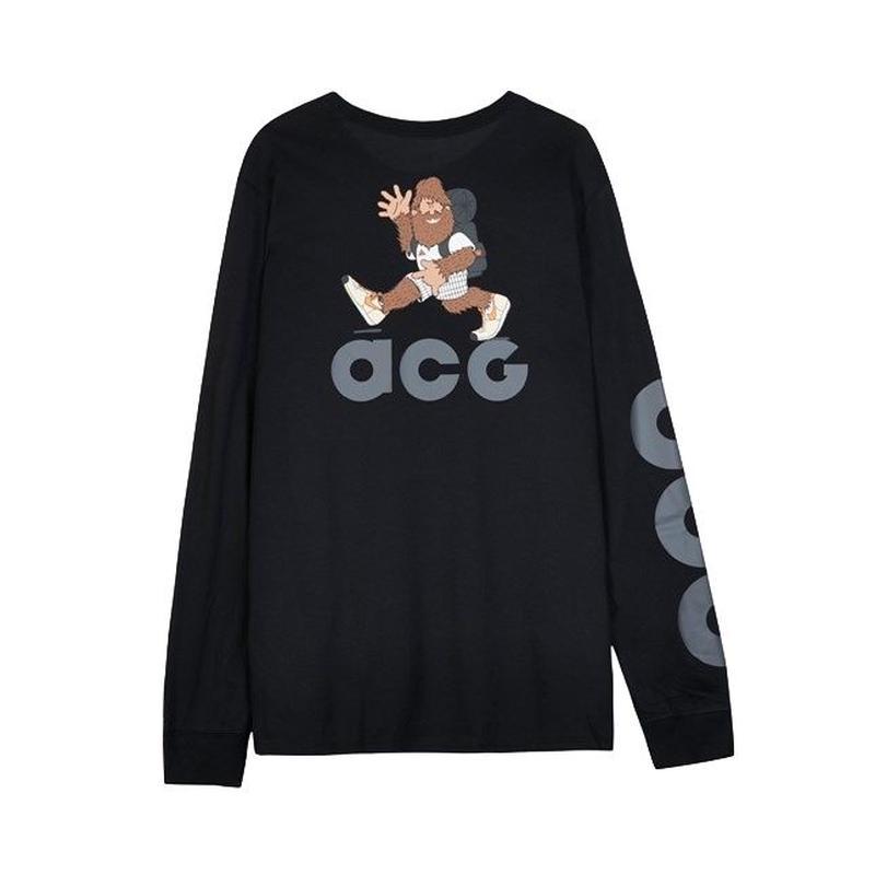 NIKE ACG L/S TEE BLACK GREY ナイキ Tシャツ ブラック グレー