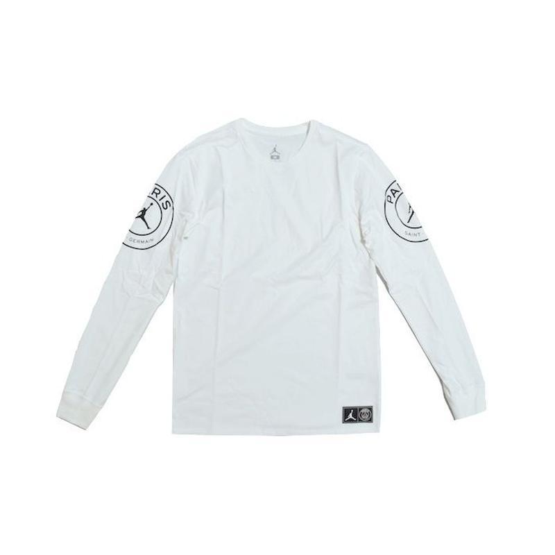 NIKE AIR JORDAN × PSG L/S TEE WHITE ナイキ エアジョーダン  パリサンジェルマン Tシャツ ホワイト