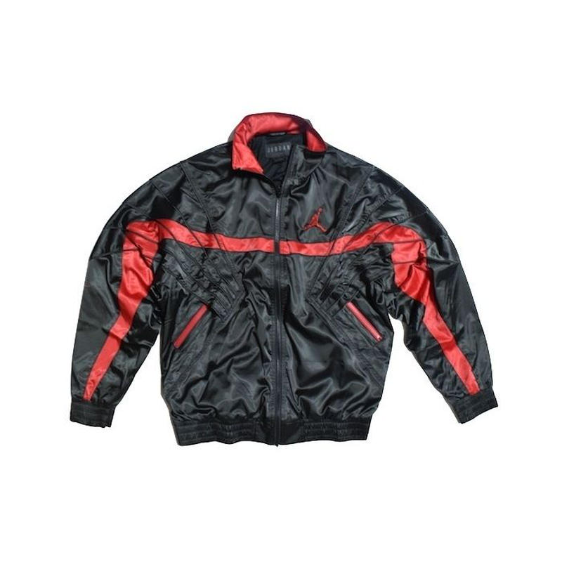 NIKE AIR JORDAN SATIN BOMBER JACKET BLACK RED ナイキ エアジョーダン ジャケット ブラック レッド