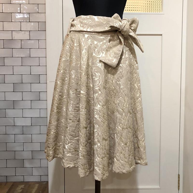 ●*●イタリヤ製ふくれジャガード使用*サーキュラースカート