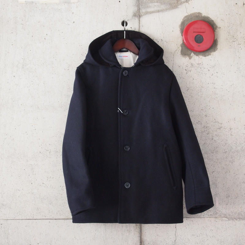 Drole & FUN〈ドロールアンドファン〉SUPER MELTON FOOD COAT NAVY