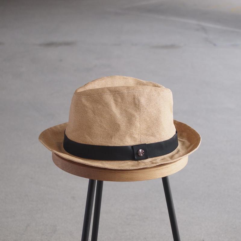 morno〈モーノ〉 PAPER CLOTH MANNISH HAT BEIGE/BLACK