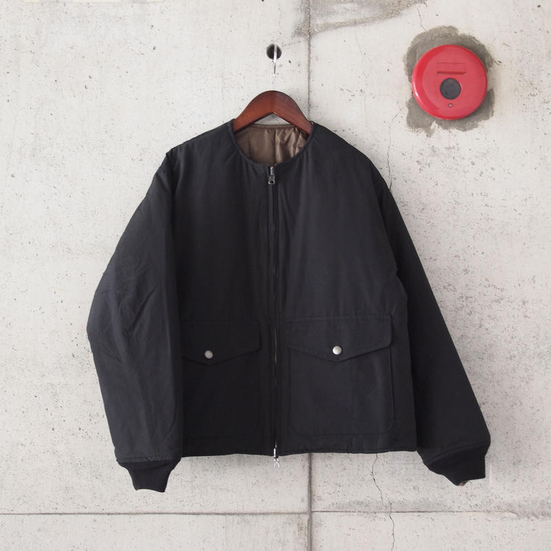 Manual Alphabet〈マニュアルアルファベット〉 V-LAP REVERSIBLE QUILTED JACKET BLACK